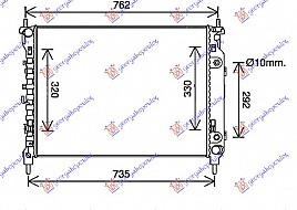 HLADNJAK 2.2 TDCi AUT. DIZ (670x500x34)