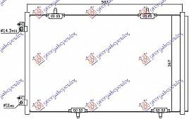 HLADNJAK KLIME 1.2-1.6VTi-1.6HDi (56.9x3