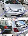 HONDA CIVIC H/B-L/B 01-04